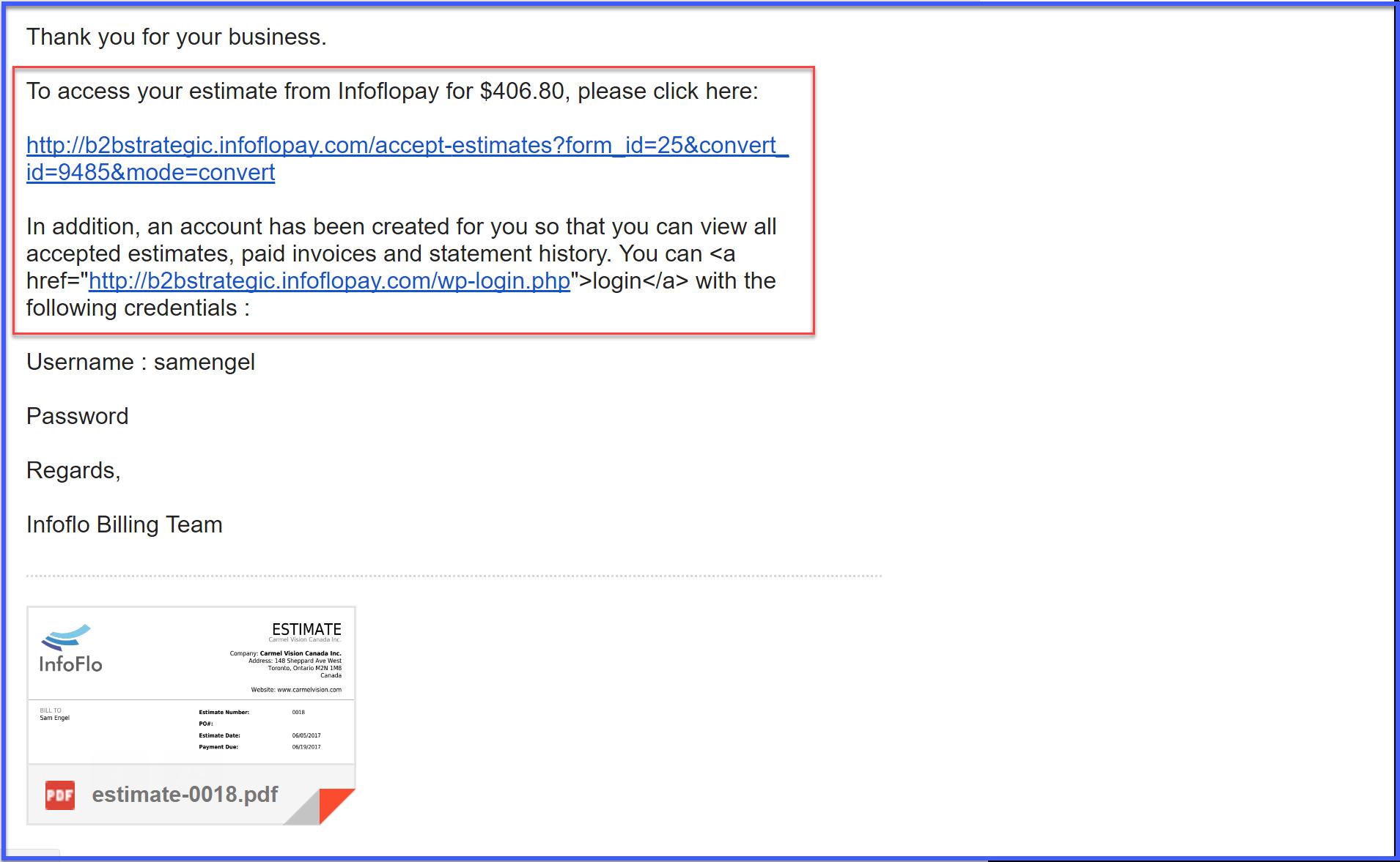 client portal infoflo pay