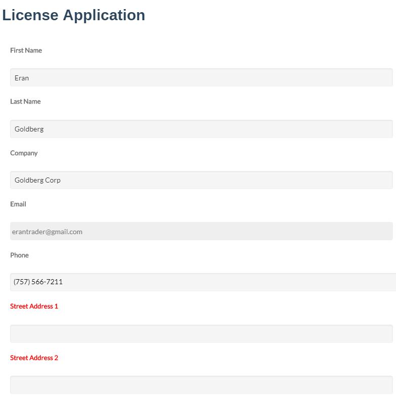 InfoFlo Pay: auto populate form