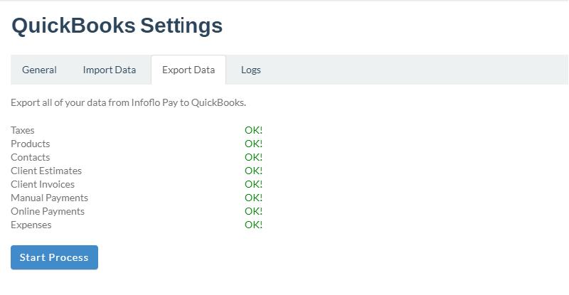 InfoFlo Pay: QuickBooks Online