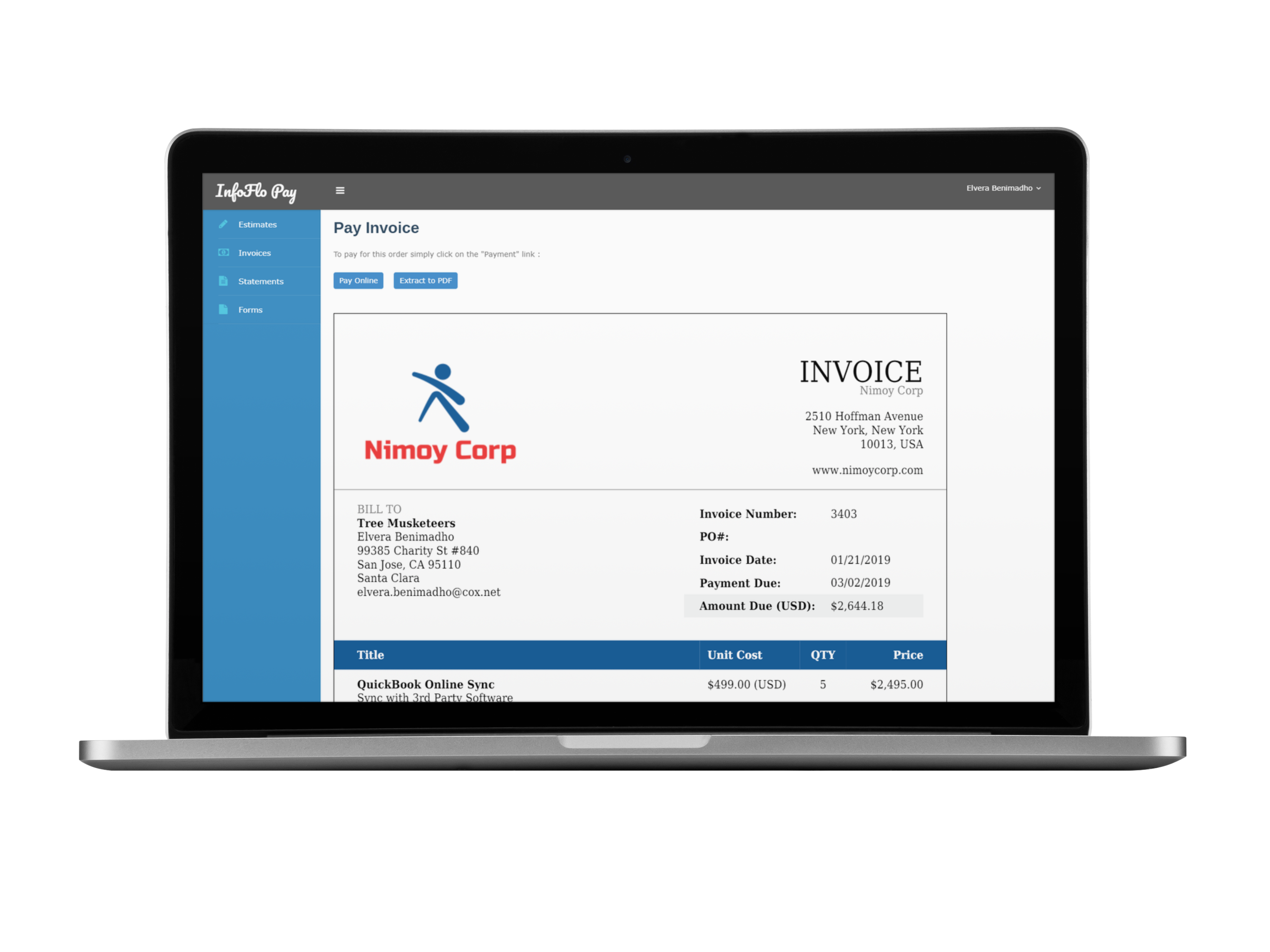 InfoFlo Pay Customer Portal